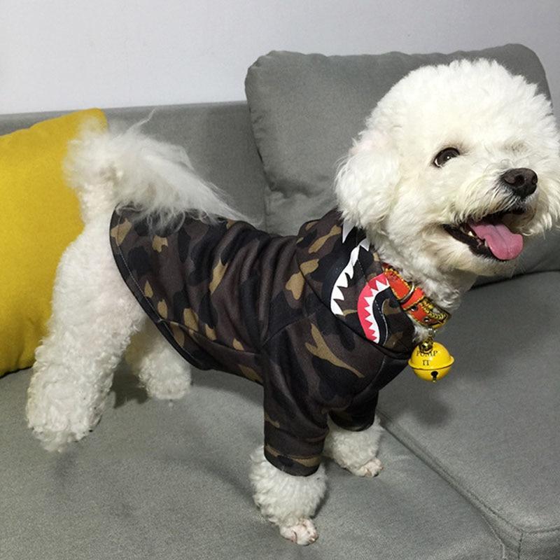 Barking Pup Camo Shark Dog Hoodie