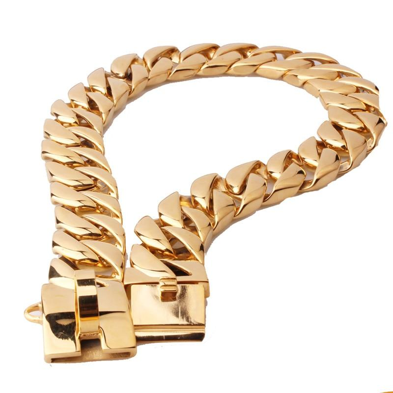 Solid 316L Cuban Link Dog Collar