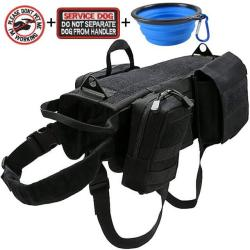 Tactical K9 Dog Harness Bundle