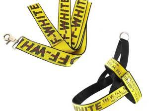 Woof-White Dog Leash & Harness Set