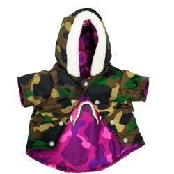 Bathing Pup Reversible Camo Dog Coat
