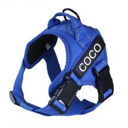 Custom ID No Pull Dog Harness