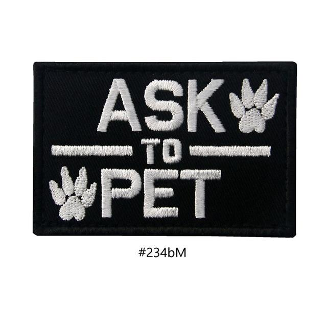 Embroidered Dog Patches