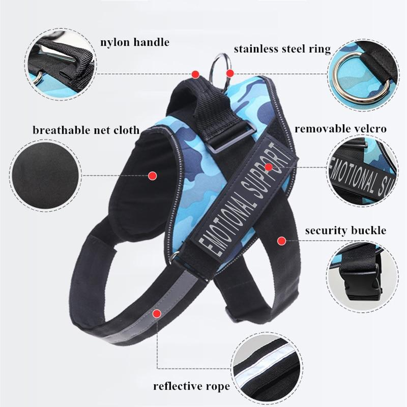 Reflective Emotional Support No-Pull Dog Harness & Leash Set