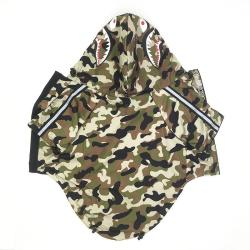 A Barking Pup Camo Dog Windbreaker