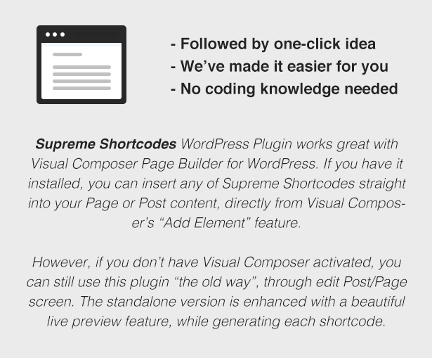 Supreme Shortcodes | WordPress Plugin 3
