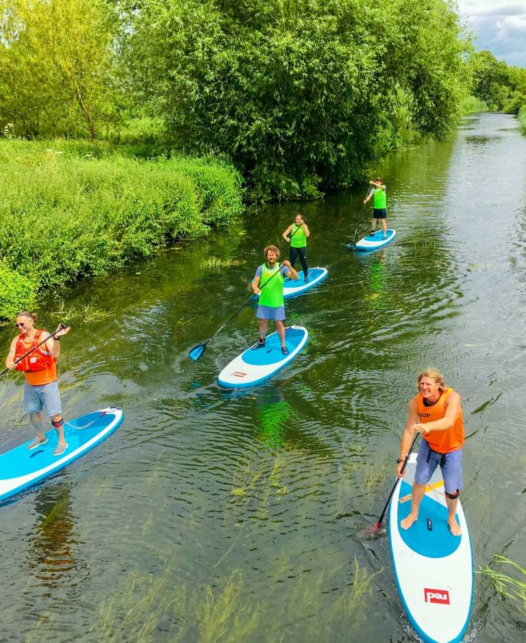 Learn to SUP lesson, Papermill Lock, Essex