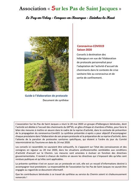 Coronavirus-Covid19 – Aide Aux Démarches Des Hébergeurs Pour La Réouverture Des Hébergements