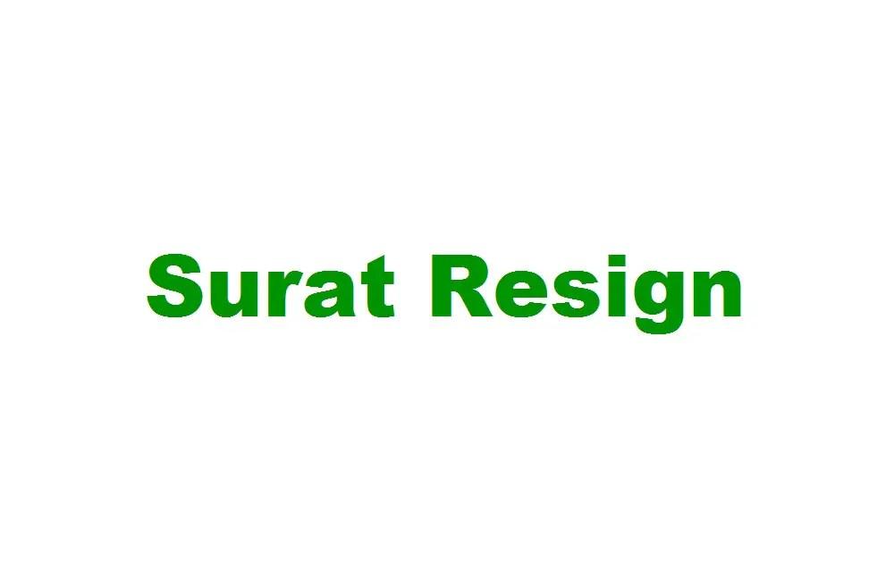 Surat Resign Dari Sekolah Archives Contoh Surat