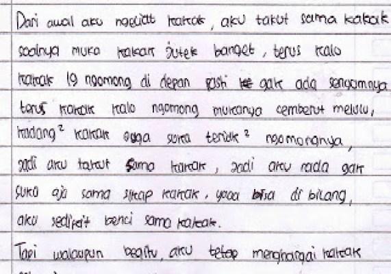 1. Contoh Surat Cinta Untuk Senior Ospek Mahasiswa