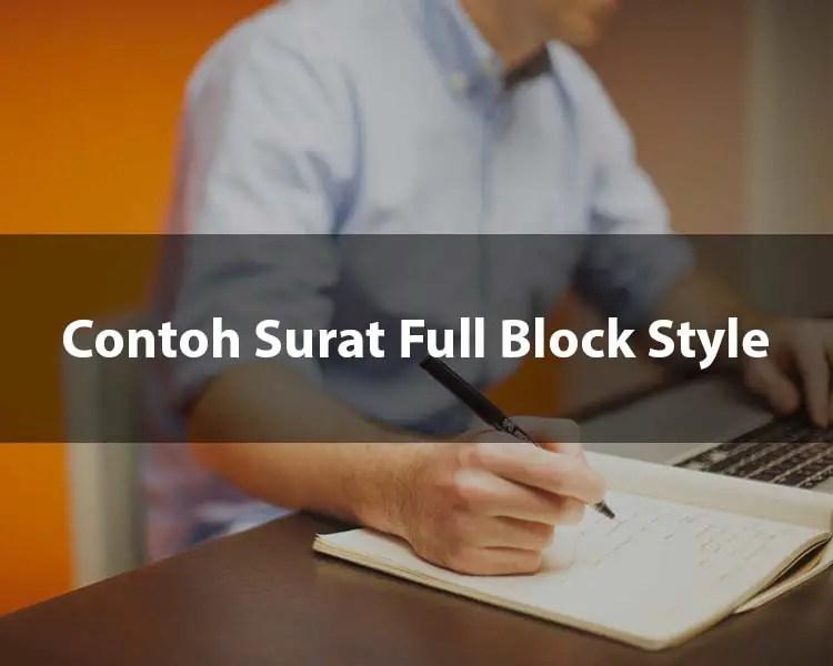 Contoh Surat Full Block Style