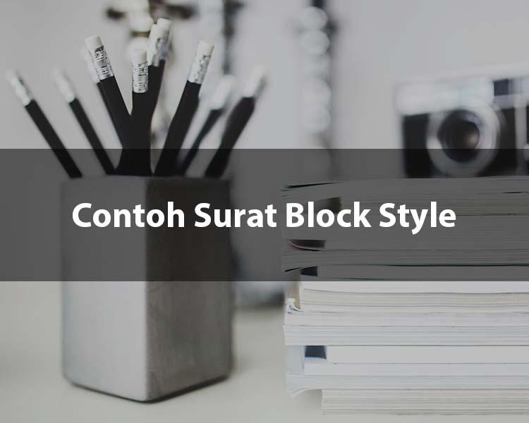 Contoh Surat Block Style