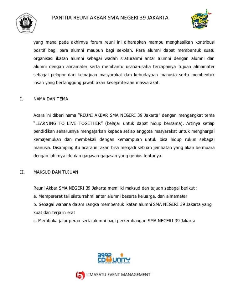 7. Contoh Surat Pengajuan Dana Untuk Acara Reuni