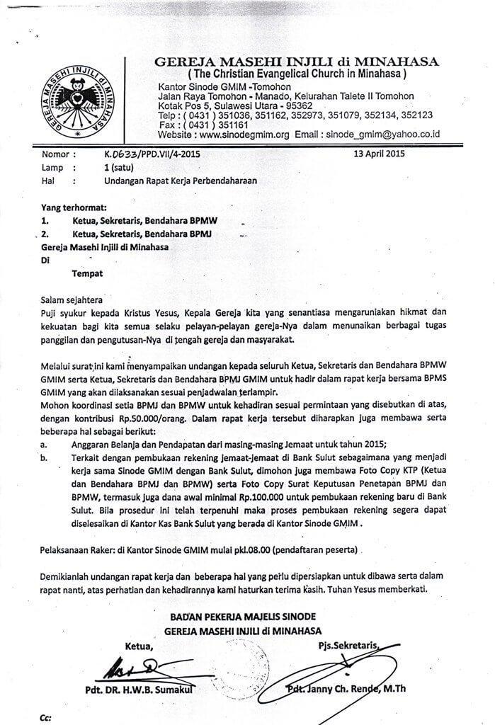 15. Contoh Surat Undangan Rapat Resmi Pemerintahan