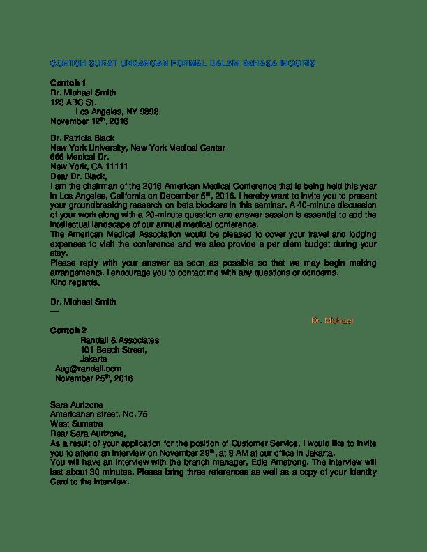 41+ Contoh surat undangan formal dalam bahasa inggris terbaru terbaru
