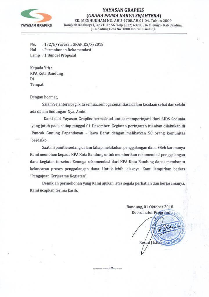 Surat Permohonan Rekomendasi Proposal