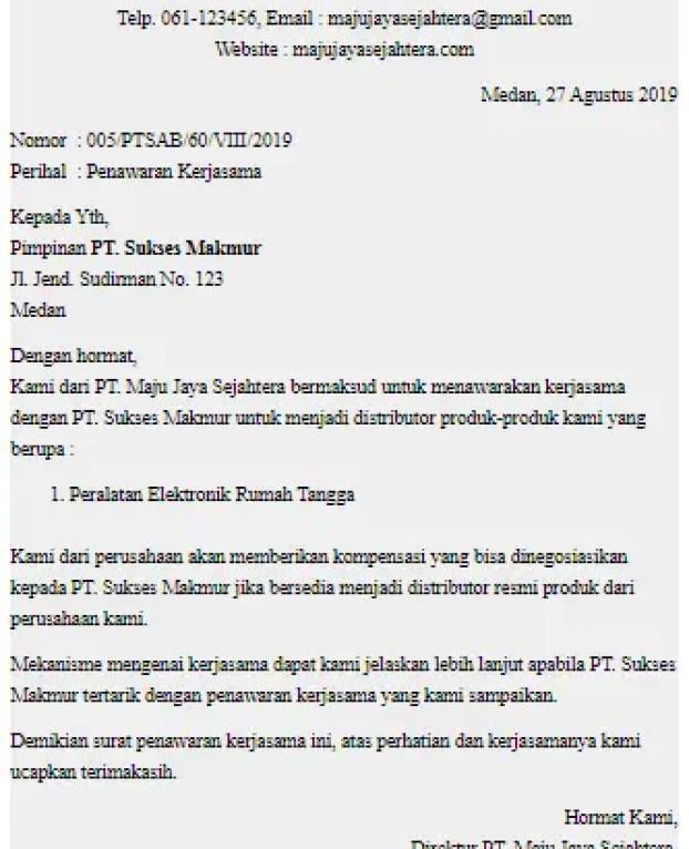 Surat Resmi Perusahaan