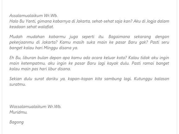 15. Contoh Surat Tidak Resmi Untuk Guru