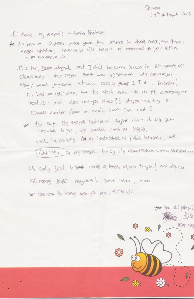 Surat Untuk Sahabat Pena Anak SD