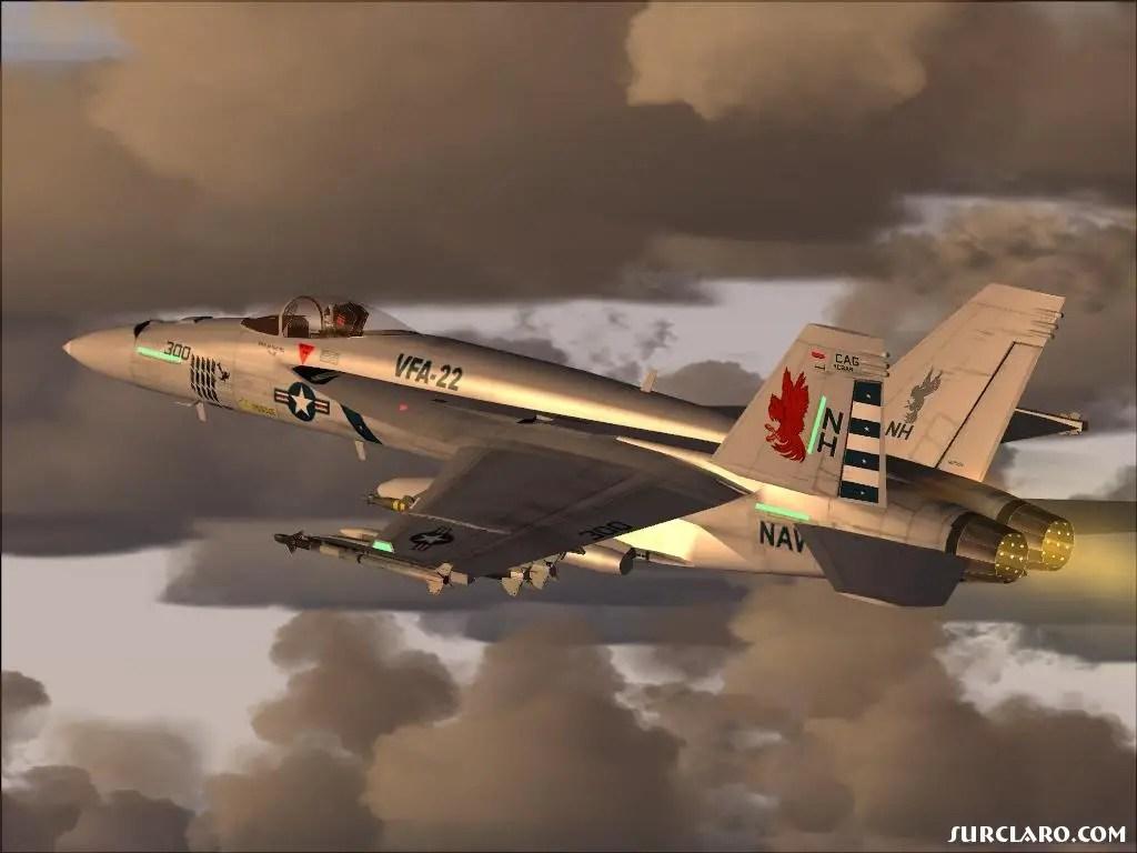 Fs2004 F A 18e Vfa 22 Over Nas Lemoore 7677 Surclaro Photos