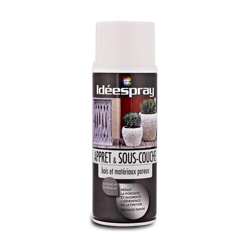 bombe de peinture aerosol sous couche bois materiaux poreux ideespray sinto