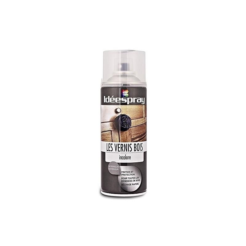 bombe de peinture aerosol vernis bois mat incolore ideespray 928860