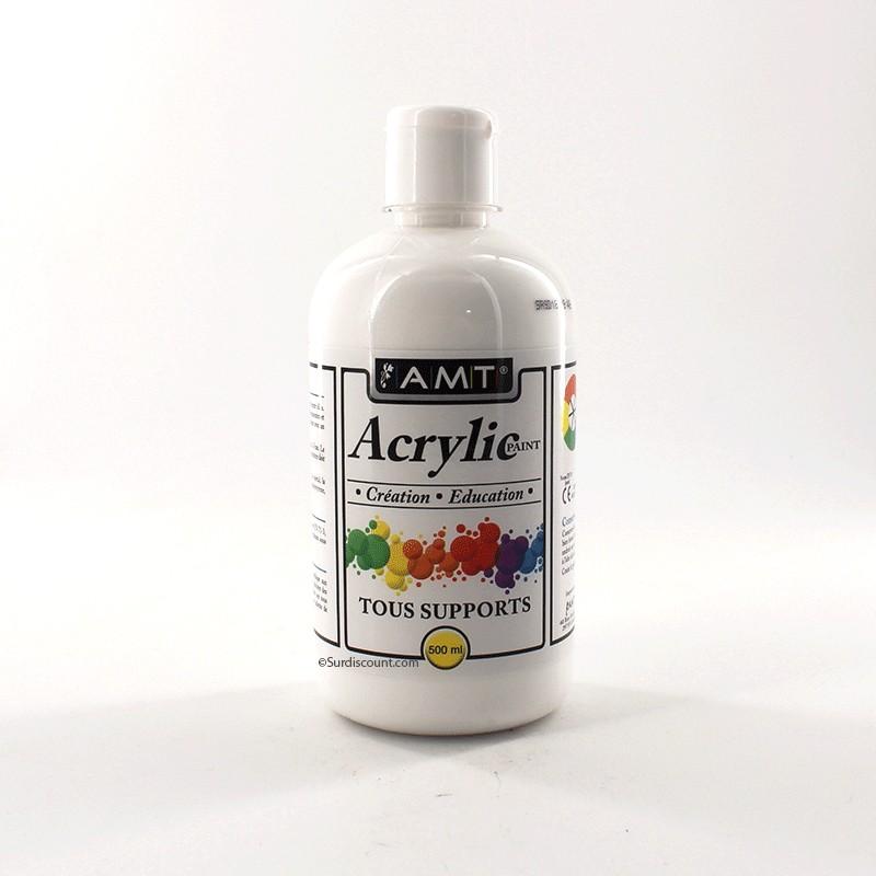 peinture acrylique en bouteille blanc amt pas cher surdiscount