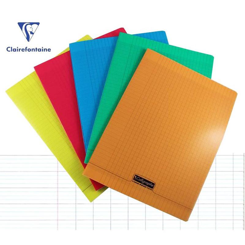 lot 10 cahiers polypro 24x32 96p grands carreaux seyes assortiment calligraphe
