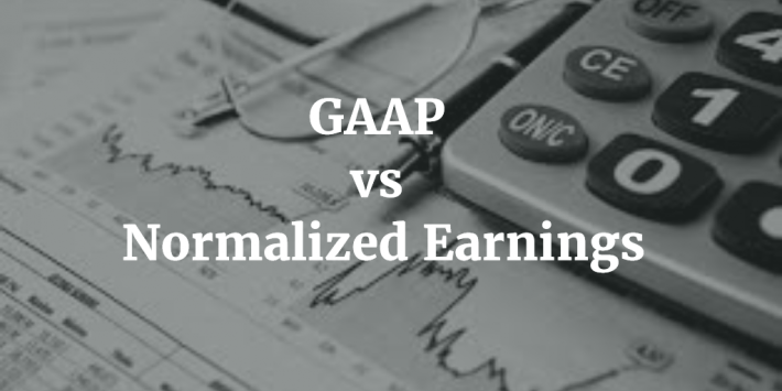 GAAP vs Normalized Earnings