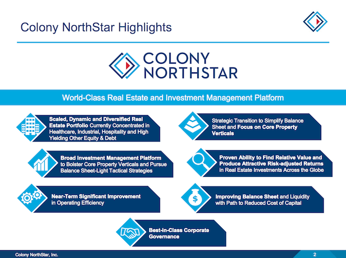 CLNS Colony NorthStar Highlights