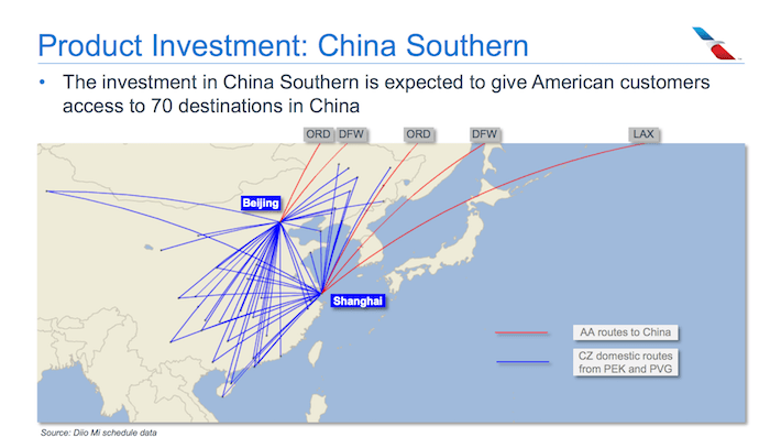 American Airlines AAL Product Investment - China Southern