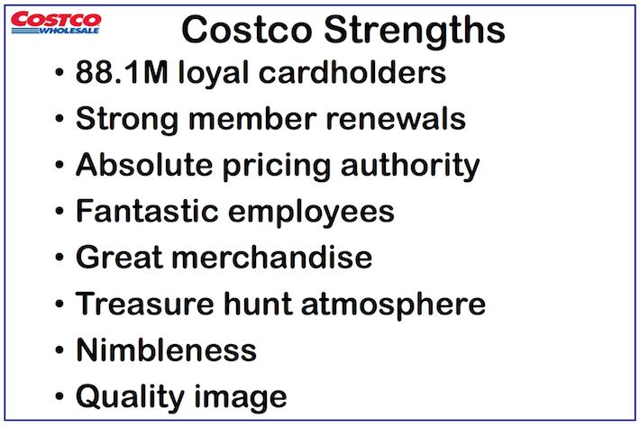 COST Costco Wholesale Costco Strengths