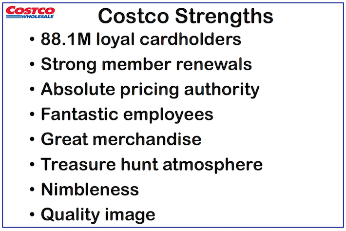 COST Costco Wholesale Costco Strengths