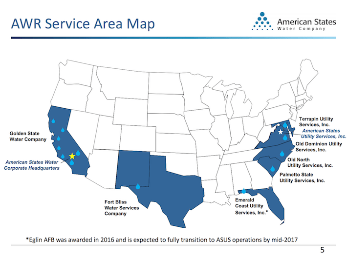 AWR American States Water AWR Service Area Map