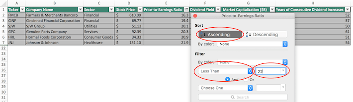 Dividend Kings Excel Tutorial Number Two
