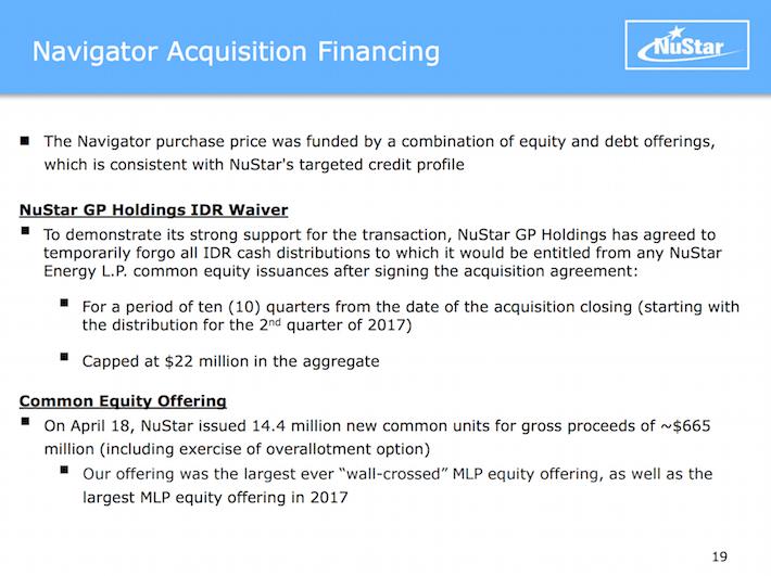 NSH NuStar Holdings Navigator Acquisition Financing