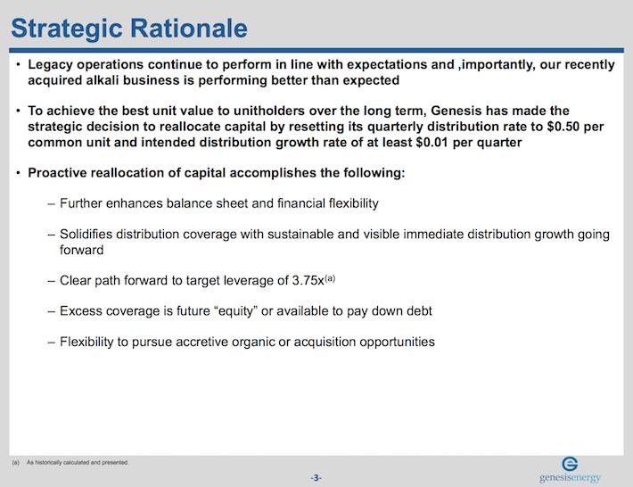 GEL Genesis Energy Strategic Rationale