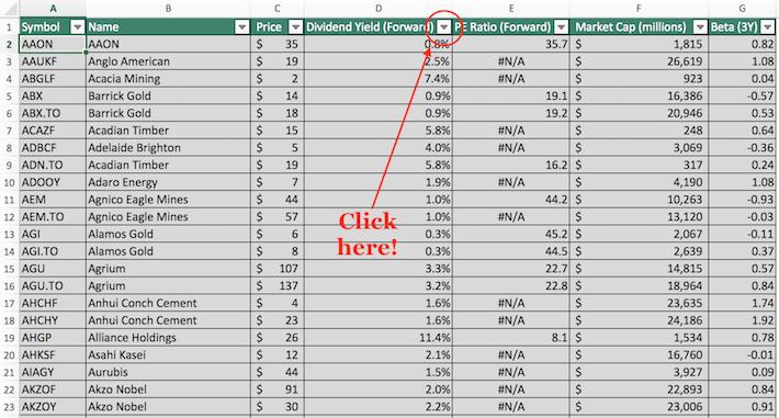 Materials Stocks Excel Tutorial 1
