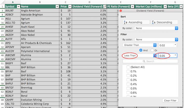 Materials Stocks Excel Tutorial 3