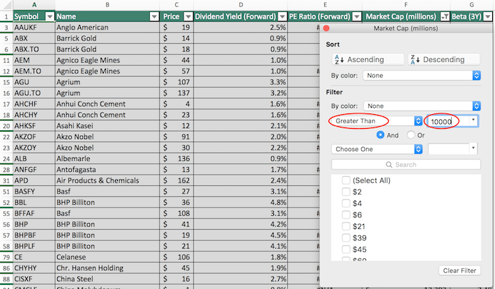 Materials Stocks Excel Tutorial 5