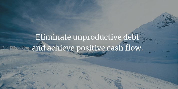 Eliminate Unproductive Debt