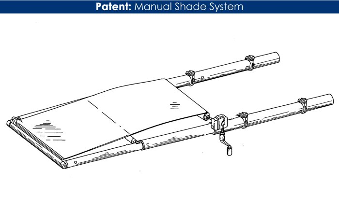 Patent MTF manual shade