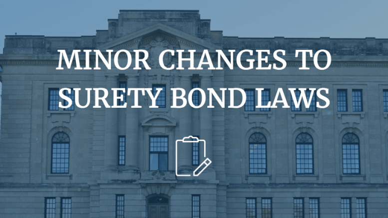 surety bond changes
