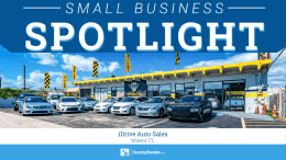 Small Business Spotlight: iDrive Auto Sales