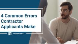 Contractor licensing errors