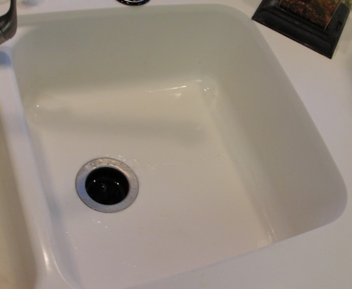 Corian, White Corian Sink Repair, Cracked White Sink Repair, Cameo White Sink  Repair