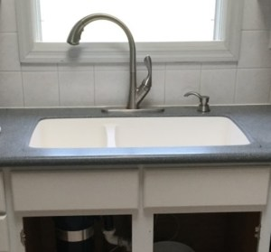 stainless steel, double bowl sink, solid surface, corian, formica, formica solid surface, sink replacement, kitchen, kitchen sink, home, home remodel, surface link