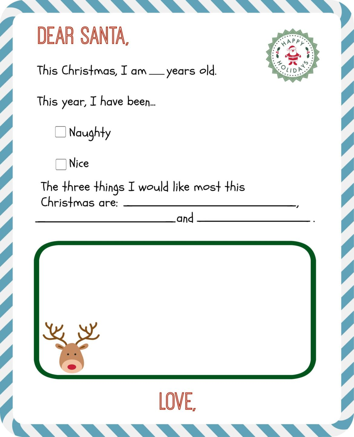 Free Printable Letter To Santa Templates And How To Get A