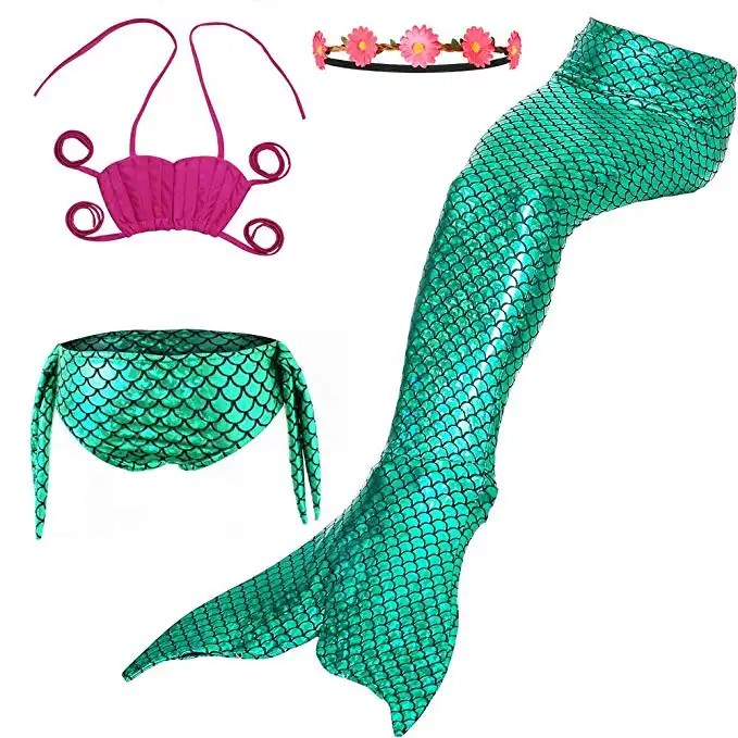 Cindy's Aunt Girls Mermaid Swimsuits Bikini Set