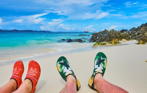 water socks at the beach
